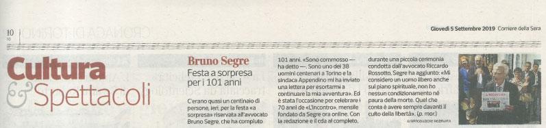 Festa a sorpresa - Bruno Segre